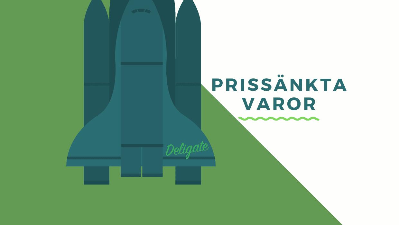 Grönblå raket med text brevid